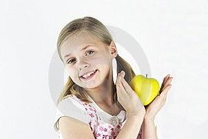 1 μήλο κίτρινο Στοκ εικόνες με δικαίωμα ελεύθερης χρήσης - εικόνα: 19215119