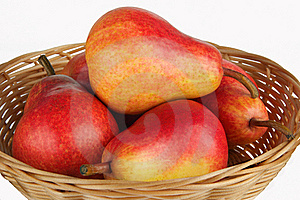 Pears In Basket Royalty Free Stock Images - Image: 19217509