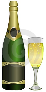 Bottle Of Champagne Royalty Free Stock Images - Image: 19218629