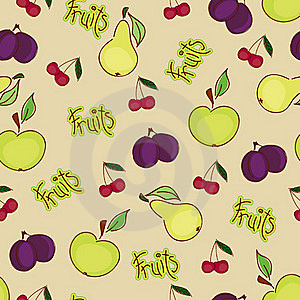 Seamless Fruit Wallpaper Royalty Free Stock Photo - Image: 19219215