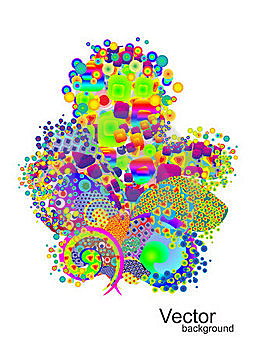 Background With Colorful Elements Stock Image - Image: 19221311