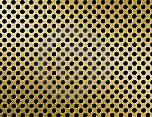 Golden Metal Grille Surface Royalty Free Stock Images - Image: 19221379