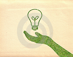 Hand And Lightbulb Royalty Free Stock Photography - Image: 19221767