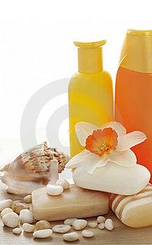 Soap, Shampoo, Flowers Stock Photos - Image: 19224893