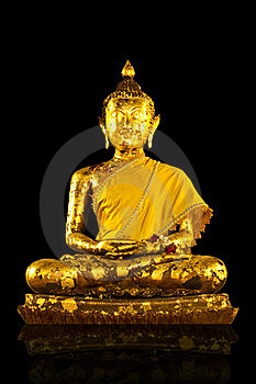 Gold Buddha Statues On Background Royalty Free Stock Photo - Image: 19226415