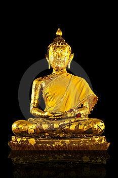Gold Buddha Statues On Background Royalty Free Stock Photo - Image: 19226415