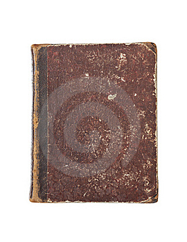 Old Book Cover Isolated Royalty Free Stock Photography - Image: 19227077
