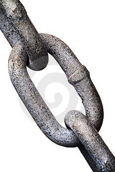 Isolated Metal Chain Link Royalty Free Stock Image - Image: 19227296