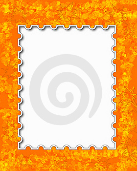 Orange Floral Frame Royalty Free Stock Photo - Image: 19230055