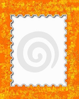 Orange Floral Frame Royalty Free Stock Photo - Image: 19230055