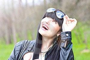 Beautiful Young Woman Wearing Sunglasses Stock Photo - Image: 19231240