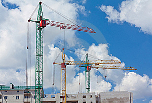 Construction Of Multi-storied Brick Houses Royalty Free Stock Photography - Image: 19235007