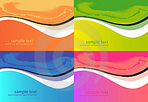 Abstract Backgrounds Set. Royalty Free Stock Photo - Image: 19236025