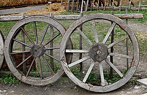 Two Old  Wheel Stock Photos - Image: 19236253