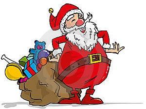 Cartoon Santa With A White Beard Stock Photo - Image: 19237350