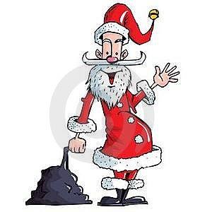 Cartoon Santa With A White Beard Royalty Free Stock Image - Image: 19237356