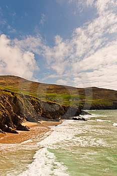 Cliffs On  Dingle Peninsula, Ireland Royalty Free Stock Photography - Image: 19238217