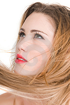 Beautiful Blonde Woman Expresion With Green Eyes Stock Photo - Image: 19238730