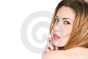 Beautiful Blonde Woman Expresion Royalty Free Stock Photo - Image: 19238775
