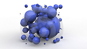 Blue Plastic Balls Stock Photo - Image: 19240170