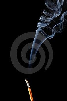 Incense Stick With Smoke Royalty Free Stock Image - Image: 19240646