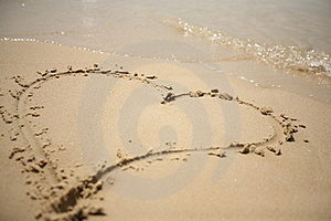 Heart On The Beach Royalty Free Stock Photography - Image: 19242127