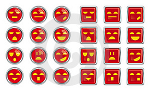 Emotional Push Button Royalty Free Stock Photography - Image: 19243287