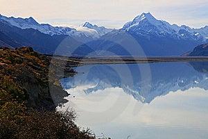 Mount Cook Of Lake Pukaki Stock Photo - Image: 19244570