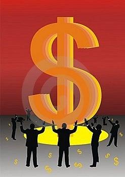 Worship Money Stock Image - Image: 19246581