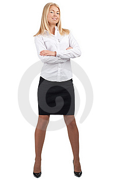 Confident  Businesswoman With Crossed Arms Royalty Free Stock Photo - Image: 19247435