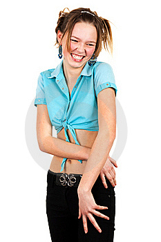 Girl In The Turquoise Shirt Royalty Free Stock Photography - Image: 19248187
