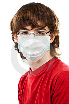 Teenager With Glasses And Mask Stock Photo - Image: 19248250