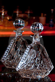 Crystal Liquor Container Stock Image - Image: 19248721