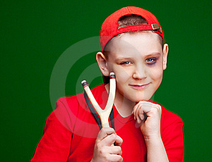 Boy With A Slingshot Stock Images - Image: 19251244