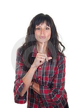 Keep Quiet Gesture Stock Image - Image: 19251591