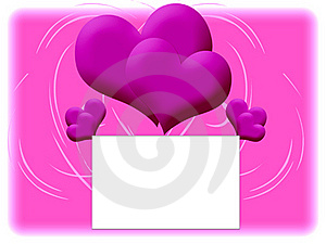 Pink Background With Double Hearts Stock Photo - Image: 19252000