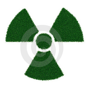 Radiation Symbol From Grass Stock Photography - Image: 19252042