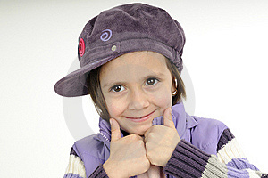 Child Showing Ok Sign Royalty Free Stock Image - Image: 19253546