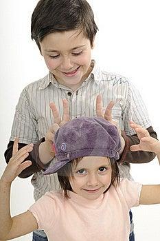 Beautiful Children Gesturing Royalty Free Stock Photo - Image: 19253715