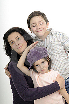 White Family Expressing Love Stock Photos - Image: 19253733