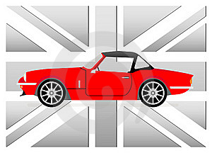 Little Red Cabrio Royalty Free Stock Image - Image: 19255376