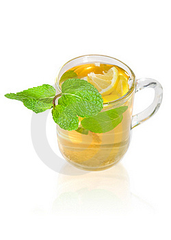 Green Tea With Lemon And Mint Royalty Free Stock Photo - Image: 19255635