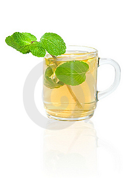 Green Tea With Lemon And Mint Royalty Free Stock Image - Image: 19255636