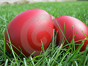 Easter Eggs In Grass Royalty Free Stock Image - Image: 19255986
