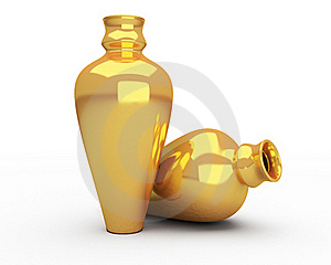 Gold Vases Royalty Free Stock Photos - Image: 19258268