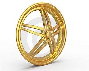 Gold Car Disc Royalty Free Stock Photos - Image: 19258278