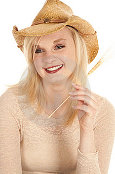 Cowgirl Wheat Stock Images - Image: 19258614
