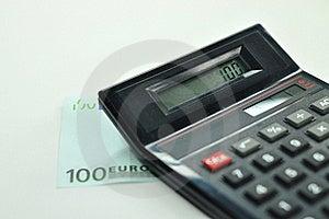 100 Euro + Calculator Stock Photography - Image: 19259382