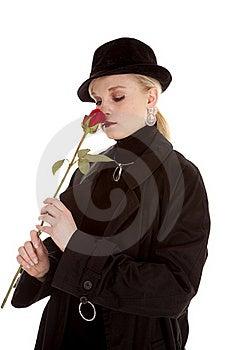 Smelling Rose Royalty Free Stock Photo - Image: 19259385