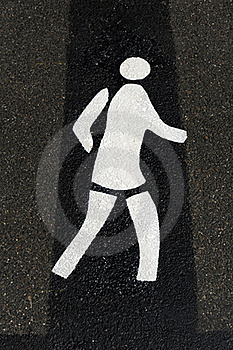 Pedestrian Sign Stock Image - Image: 19260321